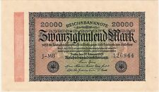 Germany Berlin 20000 Mark 1923 P-85b J-MB AU-UNC Inflationsgeld Banknotes