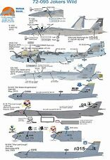 Wolfpak Decals 72-095 Jokers Wild F-15 eagle Northrop Boeing B-52 Growler jet