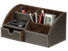 OSCO FAUX LEATHER DESK ORGANISER - NEW + NEXT WORKING DAY COURIER