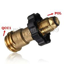 POL to Qcc1 Propane Tank Cylinder Brass Adapter & Wrench Hand Tighten Universal
