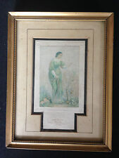 Victorian Print In Guilt Frame Depicting A Women