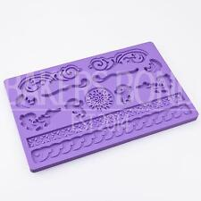Elegant Swirls Lace Multi Mat Silicone Mould Cake Decoration Sugarcraft Fondant