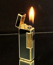 1979 dunhill ROLLAGAS Black Lacquer Lighter - SERVICED & Guaranteed