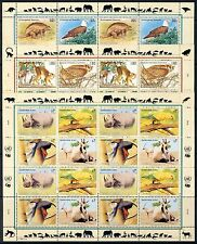 UN All 3 Offices 1995 Endangered Species . 3 Complete Sheets  Mint Never Hinged