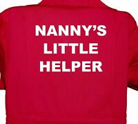 Nanny's Little Helper Baby, Childrens, Kids, Coverall, Boilersuit, Overall 1-7yr