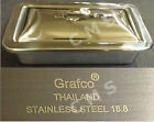 """GRAFCO Stainless Steel Instrument Tray W/ Lid 8-7/8""""x5""""x2"""" Medical Dental Tattoo"""