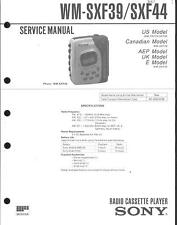 Sony Original Service Manual für WM-SX 34
