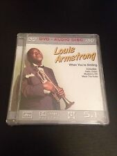 Louis Armstrong When You're Smiling 5.1 Surround Sound DVD Audio Sealed!