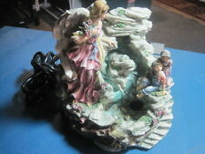 SPECTACULAR ELECTRIC WATER FALL AND MUSIC BOX OF ANGEL WATCHING OVER CHILDREN