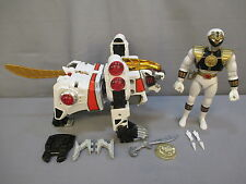 "Power Rangers ""WHITE TIGERZORD & RANGER"" Complete WORKS GREAT Bandai 1994"