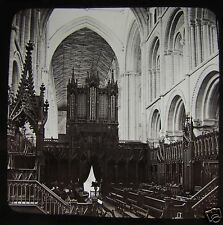 Glass Magic Lantern Slide PETERBOROUGH CATHEDRAL CHOIR C1890 ENGLAND