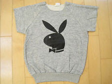 NEVER WORN!! 80s vtg PLAYBOY BUNNY sleeveless SWEAT SHIRT gym SMALL