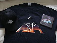 Bundle: Asia : Omega Tour Live London 2CDs, T Shirt (Large) & Baseball Cap