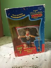 Disney Pixar Hang Around WOODY Toy Story 2 Cowboy Marionette String Puppet Doll