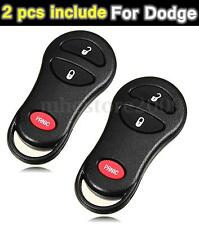 2Pcs Remote Entry Key Keyless Fob Case Shell Replacement For Dodge Jeep Chrysler