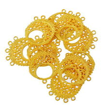 40PCs Gold Plated 6 Holes Connectors Jewelry Findings Accessories