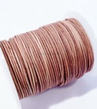 Leather Greek Smooth Rawhide String Cord Natural Brown 1 MM (10 Feet)