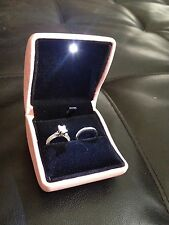 Pink  LED LIGHT ENGAGEMENT WEDDING RING BOX