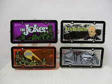HOT WHEELS LOT OF 4 PARK N' PLATES JOKER LEX LUTHER BATMAN SUPERMAN