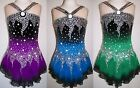 Ice Figure Skating Dress/Baton Twirling leotard/Tap costume/Dance outfit