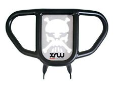 Ltz Kfx 400 Parachoques Delantero Negro Con cráneo con huesos 2003-2015 Plata xrw Suzuki