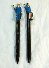 Vintage Pen and Pencil Set Hong Kong 1987 Novelty Business Man/ Woman Toppers