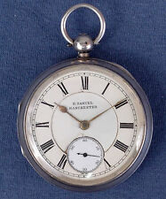 18s H. Samuel Manchester Pocket Watch, Sterling  OF Case, #116758 - 1896, Key Wd