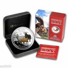 2015 $2 Australia Goat 2 Oz Colorized Proof Silver Anda Coin Show Mintage # 1000
