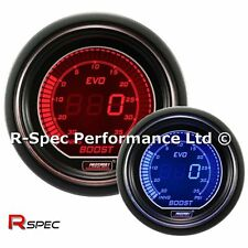Genuine ProSport 52mm Evo Azul/Rojo Pantalla LCD Digital Turbo Boost Gauge-PSI