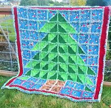 OH CHRISTMAS TREE RAG QUILT OR WALL HANGING PATTERN A la Mode Quick & Easy