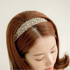 Sweet Women Girls Lace Pearl Hairband Rhinestone Crystal Headband Head Piece WWA