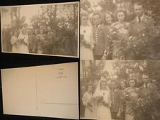 Orig. Foto Hochzeit 2.WK 3.Reich WWII Abzeichen Uniform Photo Karte Wehrmacht