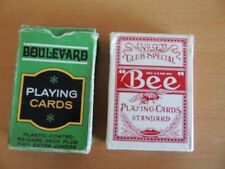 LOT OF VINTAGE BEE & BOULEVARD PLAYING CARDS - No. 92 CLUB SPECIAL/BACK 67