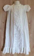 VTG CHRISTENING/BAPTISM Ivory Cotton Gown Baby