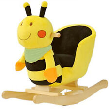 Plush Bubble Bee Baby Rocking Chair Kids Toy Ride Rocker Plush Toddler