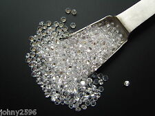 10x2.5mm round cut white clear loose cubic zirconia gemstones for £1.20p