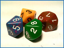 Single 10 Sided D10 chessex Opaque Dice x 1  - random colour
