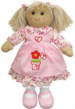 Beautiful Powell Craft Large 40cm Handmade Pink Flowerpot Rag Doll Perfect Gift