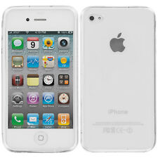 For Apple iPhone 4S 4G 4 TPU Rubber Transparent Case Cover Clear