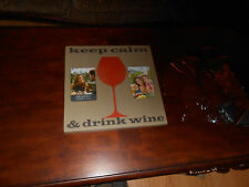 picture/frame, pic 14x14 holds (2)  4x6 pics. Keep calm drink wine