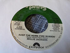 Millie Jackson 45 Logs and Thangs/Keep the Home Fire Spring 189 70s Soul Funk