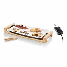SWISSMAR TABLE TOP GRILL CERAMIC SURFACE FUSION SERVICE FOR 6 ELECTRIC BAMBOO