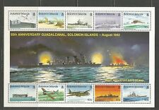 Solomon Is 1992 Battle of Guadalcanal 50th ss--Attractive Topical (728) MNH