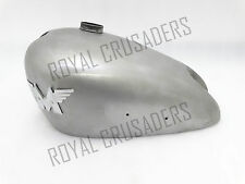 NEW MATCHLESS (SINGLE CYLINDER) RAW PETROL TANK WITH BADGES (REPRODUCTION)