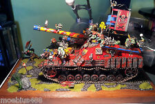 GORKAMORKA PANZERWAGEN TANK with CREW (12 miniatures) - perfectly painted