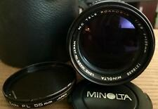 Minolta 135mm F/2.8 Tele Rokkor-X MD Mount Manual Focus Lens Ø55mm w/CPL&case