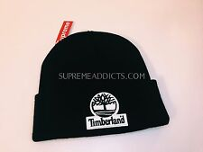 SUPREME TIMBERLAND BEANIE BLACK BOX LOGO FW 2016 HAT CAP TROOPER CAMO CDG DSWT