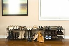 Shoe Boot Flip Flop Organizer Storage Rack Stackable Entryway Closet Mudroom New