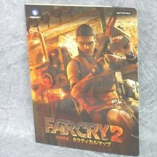 FAR CRY 2 Tactical Map Game Guide Booklet Japan Xbox360 Book RARE Ltd