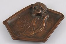 Beautiful Lady With Long Hair in Brass/Bronze Dish/Tray JZ-0673